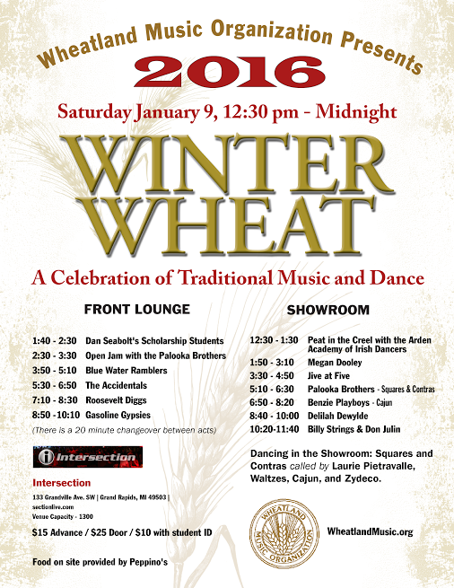 Winter Wheat Schedule Flyer
