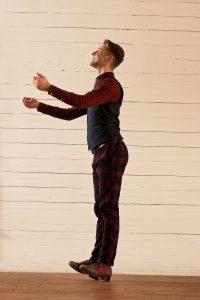 Nic Gareiss - rocking back on heels